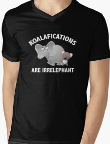 Koalifications Are Irrelephant Mens V-Neck T-Shirt