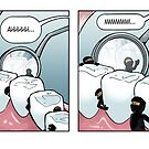 Ninjavitis at the Dentist Office by guigar