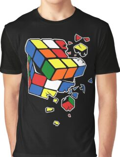 Exploding Cube Graphic T-Shirt