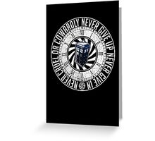 Never Cruel Or Cowardly - Doctor Who - TARDIS Clock Greeting Card