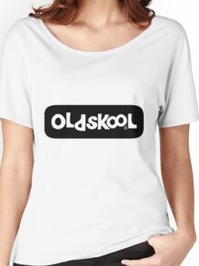 Oldskool logo - black Women's Relaxed Fit T-Shirt