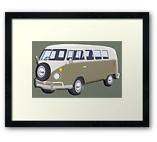 CAMPER VAN, Volkswagen Van, Camper, Split screen, 1966 Volkswagen, Kombi (North America) Framed Print