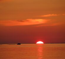 Setting sun by Janet Gosselin
