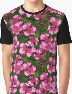 Pink Floral Watercolour  Graphic T-Shirt
