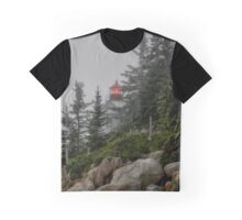Lighthouse in Fog Graphic T-Shirt