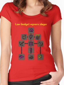 Low-budget wyvern slayer build Women's Fitted Scoop T-Shirt