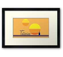 Tatooine Sunset Vintage 80s Design Style Framed Print