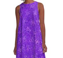 Vintage Floral Purple Grape A-Line Dress