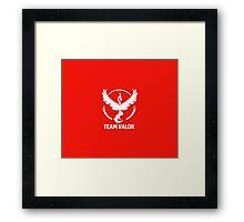 Team Valor - Pokémon Go Framed Print