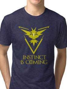 Pokemon Go Team Instinct Is Coming (GOT) Tri-blend T-Shirt