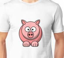 A funny pig drawing Unisex T-Shirt