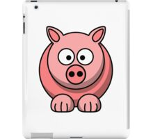 A funny pig drawing iPad Case/Skin