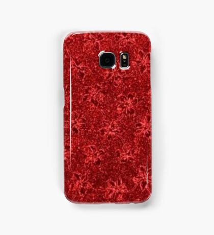 Vintage Floral Ribbon Red Samsung Galaxy Case/Skin