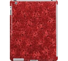 Vintage Floral Ribbon Red iPad Case/Skin