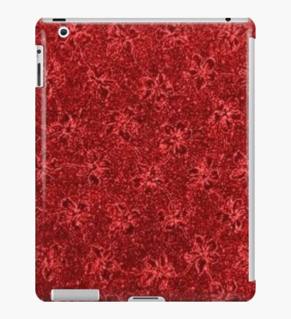Vintage Floral Ribbon Red iPad Case/Skin