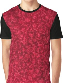 Vintage Floral Ruby Flame Red Graphic T-Shirt