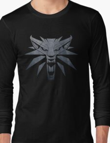 Forest and Wolf Medallion Long Sleeve T-Shirt