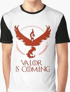 Pokemon Go Team Valor Is Coming (GOT) Graphic T-Shirt