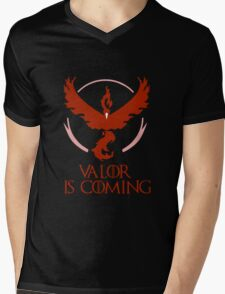 Pokemon Go Team Valor Is Coming (GOT) Mens V-Neck T-Shirt