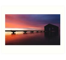 Crawley Boat House sunrise Art Print