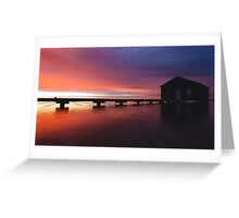Crawley Boat House sunrise Greeting Card