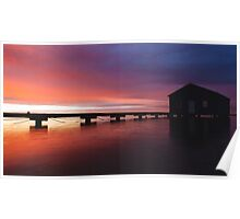 Crawley Boat House sunrise Poster