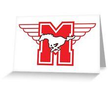 Hamilton Mustangs Greeting Card