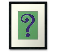 The Riddler  (Purple Question Mark) - Batman Framed Print