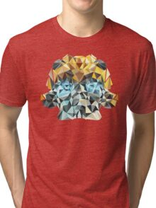 Bumblebee Portrait with Triangles Tri-blend T-Shirt