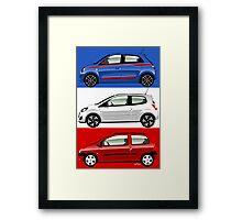 Renault Twingo evolution Framed Print