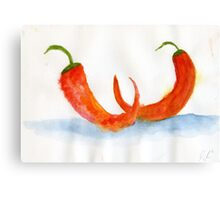 Two Chilis – Daily Painting #877 Canvas Print
