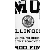Bomont, IL No Dancing Ordinance iPhone Case/Skin
