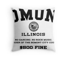 Bomont, IL No Dancing Ordinance Throw Pillow