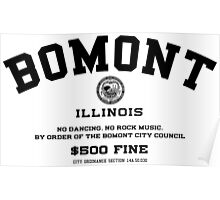 Bomont, IL No Dancing Ordinance Poster
