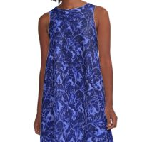 Vintage Flowers Sapphire Blue A-Line Dress
