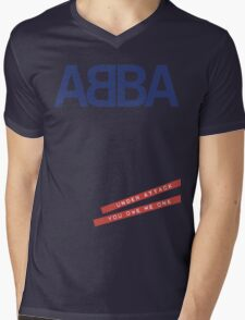 ABBA Under Attack Mens V-Neck T-Shirt