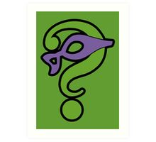 The Riddler  (Purple Question Mark and Mask) - Batman Art Print