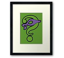 The Riddler  (Purple Question Mark and Mask) - Batman Framed Print