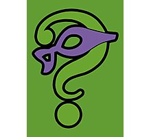 The Riddler  (Purple Question Mark and Mask) - Batman Photographic Print