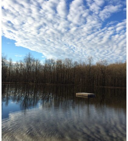 Photo of Cloudy Lake and Sky Sticker