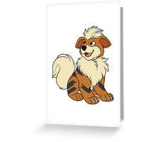 Growlithe Greeting Card