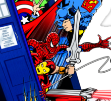 Heroes in the Tardis Sticker