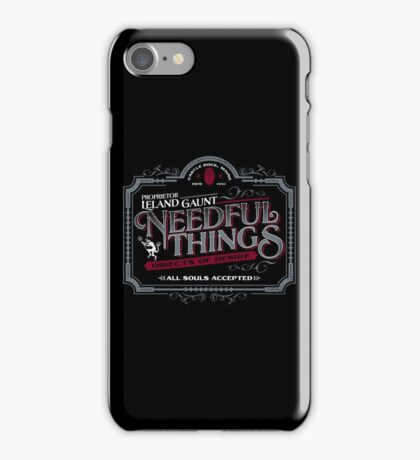 Needful Things iPhone Case/Skin