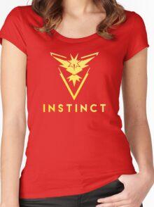 Pokemon GO: Team Instinct (Yellow Team) Women's Fitted Scoop T-Shirt