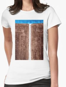 Waterfall original painting Womens Fitted T-Shirt