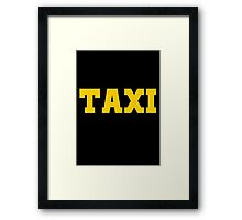 TAXI yellow Framed Print