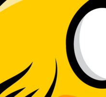 A funny yellow bird drawing Sticker