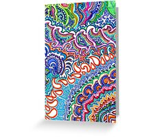 Rainbow Flame Doodle Greeting Card
