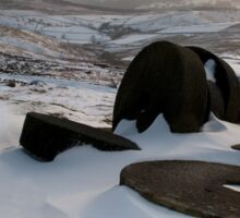 Millstones at Stanage Edge Sticker