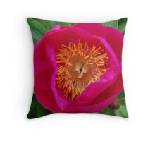 Pink and yellow explosion Throw Pillow